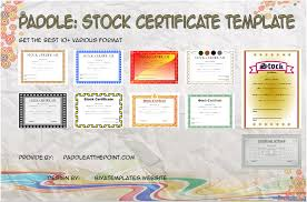 download stock certificate template stock certificate templates by paddle paddle at the point