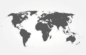 Bestel Een Zeer Mooie Wereldkaart Zwart Wit Wereldkaart