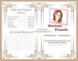 Free Download Funeral Program Template Gorgeous Free Funeral Program Template Word Cteamco