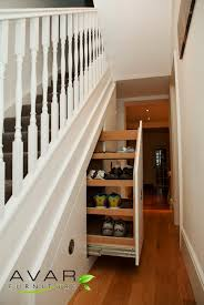 Regal Custom Carpenter Made Shoes Racks Storage Under Stairs With Pull Out  Organizing Style As Space Saving Designs