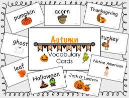 Autumn Vocab Cards