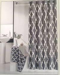 modern grey shower curtain. Hotel 21 Fabric Shower Curtain Charcoal Gray White Lattice Geometric Modern Grey O