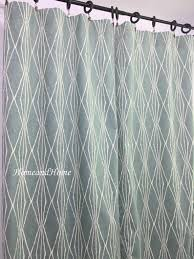 Designer Drapery Panels Window Curtains Drapery Panels Designer Curtains 50 X 84 Robert Allen Handcut Shapes Geometric Orange Grayish Blue Teal
