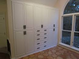 built in storage solution with custom pulls
