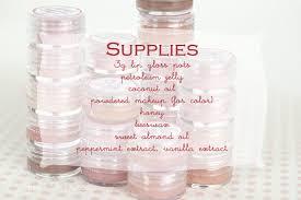 lip gloss diy and printable labels