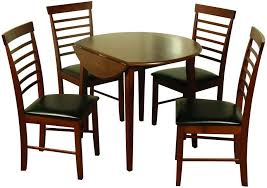 hanover dark round drop leaf dining set with 4 chairs 61cm 91cm