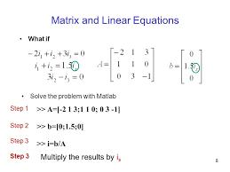 matrix and linear equations