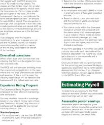 Wcb Assessable Earnings Chart Information For Employers Pdf Free Download