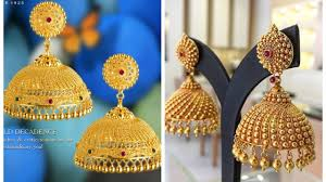 Gold Jhumka Design Images Latest Gold Jhumka Designs Gold Jhumka Designs Of 2019 By