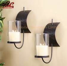metal wall sconce candle holder set of
