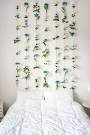 dorm room wall decor pinterest. diy flower wall // headboard home decor dorm room pinterest