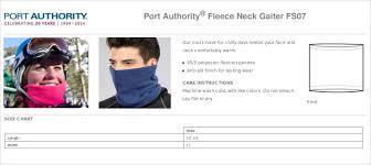 Port Authority Color Chart Unisex Port Authority Fleece Neck Gaiter