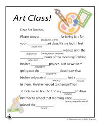 Mad Lib Worksheets - Art Class - Woo! Jr. Kids Activities