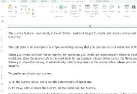Excel Survey Template With Option Buttons Customer Word Spreadsheet ...