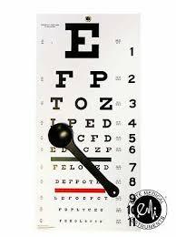 Emi Occ Snw Occluder Plus Snellen Eye Test Exam Plastic Wall