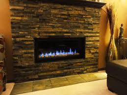 dry stack stone veneer fireplace