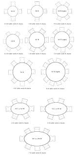8 table size round dining dimensions for seater 6 kayalabsco 10 person round table size room