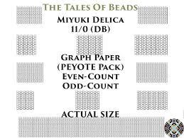 11 0 Miyuki Delica Beading Graph Paper Actual Size Peyote Or Etsy