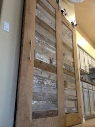 Bypass Barn Door Reclaimed Oak And Pabst Blue Ribbon Factory Floor Bypass Sliding