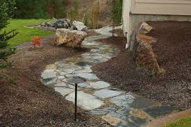 flagstone landscaping. Brilliant Landscaping Flagstone Path Path Lights Walkway And Copper Creek Landscaping Inc  Mead On Landscaping E