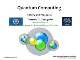 Quantum Computing History And Prospects Ppt Slides