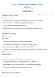 Ultrasound Resume Examples Cover Letter Sonographer Resume