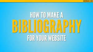 How To Make A Bibliography For A Website