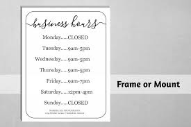 printable store hours sign business hours sign printable template hours of operation
