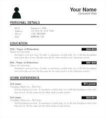 Part Time Job Resume Sample Classy Free Printable Job Resume Templates Resume Creator Simple Source