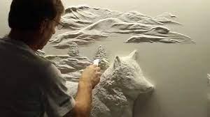 amazing drywall art sculpture by bernie
