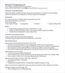 HTML Developer Resume