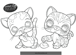 Dessin De Chat Coloriage Pet Shop Chaton L L L L L