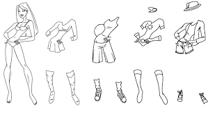 Coloring Pages Paper Dolls Free Printable Paper Doll Coloring Pages