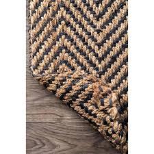 pottery barn chevron wool jute rug reviews navy
