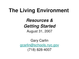 Ppt The Living Environment Powerpoint Presentation Id