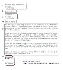 How To Write A Letter Head Format Business Correct Layout For
