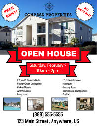 Real Estate Apartment Open House Open Home Flyer Template