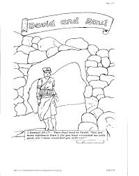 David And Goliath Coloring Pages For Toddlers Bible Coloring Pages