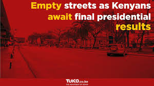 Kenyans Avoid The Streets Of Nairobi Ahead Of Presidential Election ...