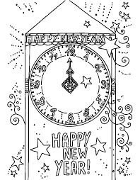 Small Picture A City Clock Tower Signing the New Year Coming Coloring Pages NetArt