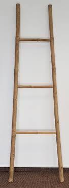 Holz Leiterregal 3 Sprossen Bambus Handtuchhalter