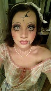 creepy doll creepy eye makeup