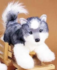 plush stuffed siberian husky