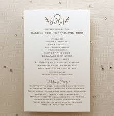 Wedding Ceremony Program Cover 10 Simple Wedding Programs Mywedding