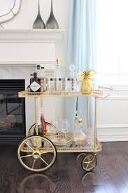 AM Dolce Vita: Vintage Bar Cart Styling, silver-rimmed numbered Tom Collins  highball