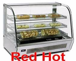 omcan 39536 white 34 countertop food warmer glass display case dw cn 012