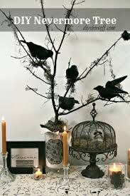 DIY Halloween Nevermore Tree decor