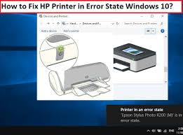 fix hp printer in error state