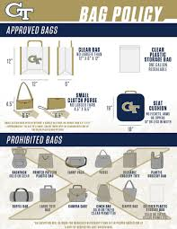 Permitted Prohibited Items Georgia Tech Yellow Jackets