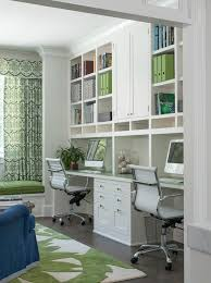 home office designs for two. Container Office Design Home Transitional With Built Ins Green  Two Person Designs For O